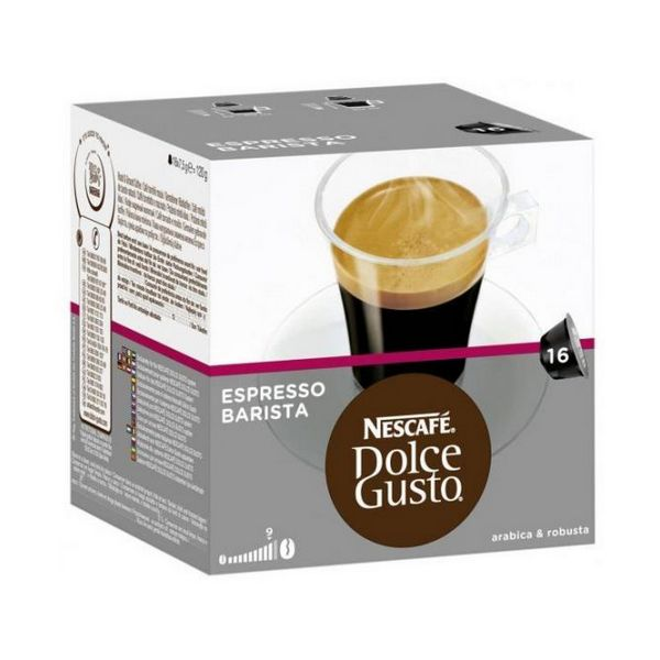 Capsule di Caffè con Contenitore Nescafé Dolce Gusto 91414 Espresso Barista (16 uds)