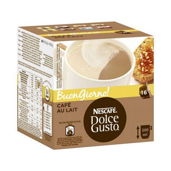 Capsule di Caffè con Contenitore Nescafé Dolce Gusto 65835 Au Lait (16 uds)