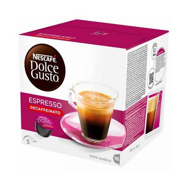 Capsule di Caffè con Contenitore Nescafé Dolce Gusto 60658 Espresso Decaffeinato (16 uds)