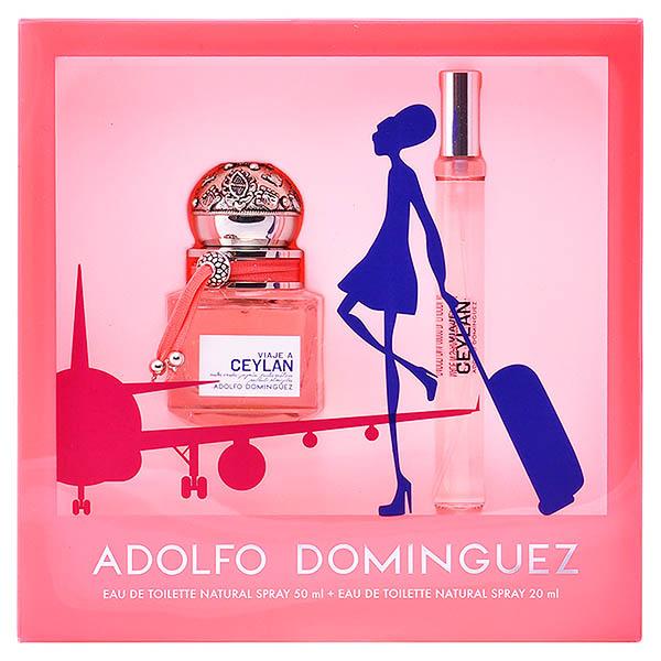 Set de Perfume Mujer Viaje A Ceylan Adolfo Dominguez 04902 (2 pcs)