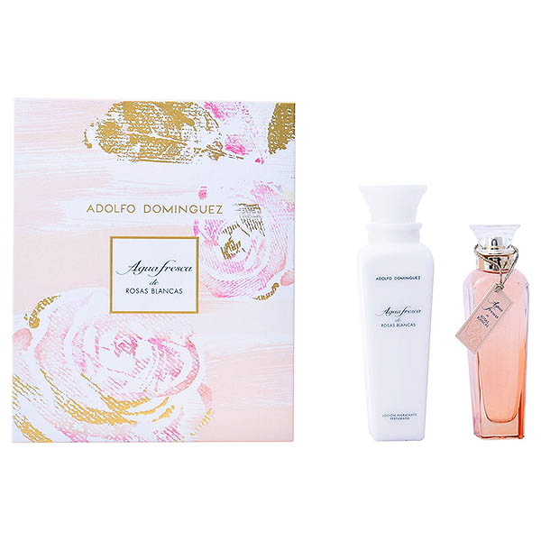 Ženski parfumski set Agua Fresca Rosas Blancas Adolfo Dominguez (2 pcs)