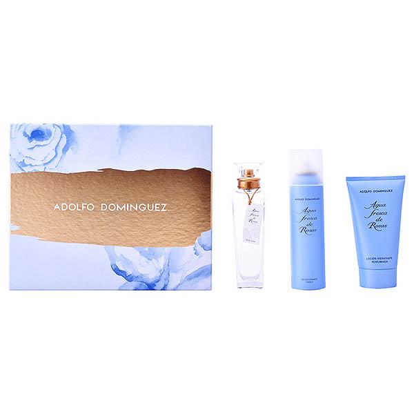 Set de Perfume Mujer Agua Fresca De Rosas Adolfo Dominguez 176501 (3 pcs)
