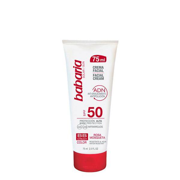 Crema Viso Adn Bb Cream Babaria SPF 50 (75 ml)