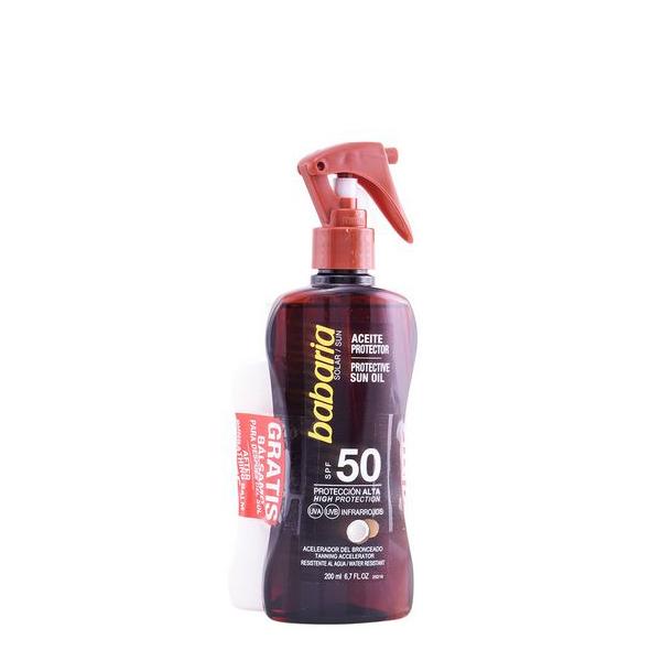Set Protezione Solare Aceite De Coco Babaria (2 pcs) SPF 50