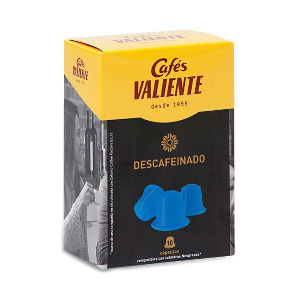 Capsule di Caff� con Contenitore Caf�s Valiente 83928 (10 uds) Decaffeinato