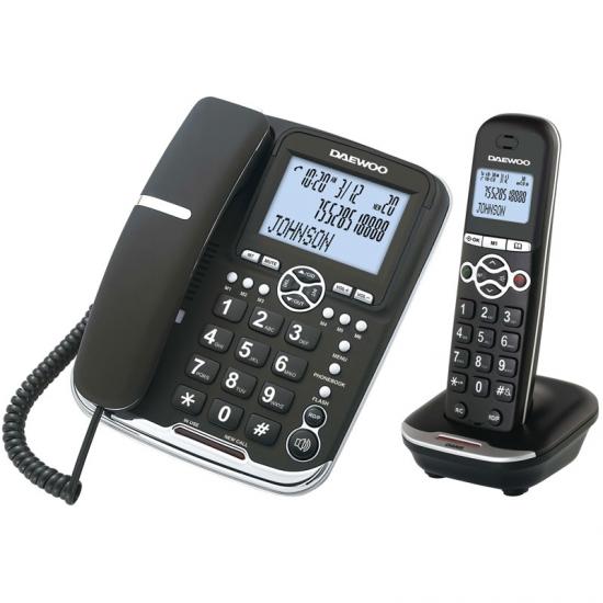 Telefono Senza Fili Daewoo DTD5500 DECT LCD LED COMBO