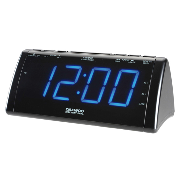 Radiosveglia con proiettore LCD Daewoo 222932 USB