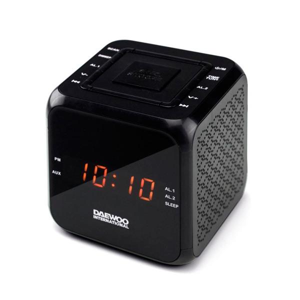 Radio Sveglia Daewoo DCR-450 Nero