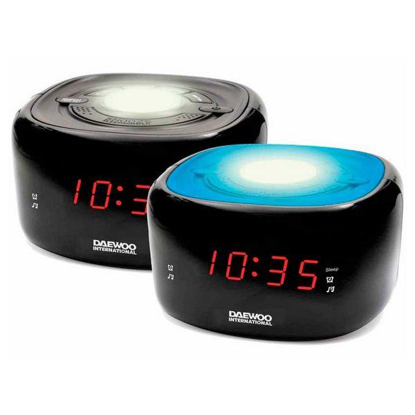 Radio Sveglia Daewoo DCR-440BK LED FM Nero