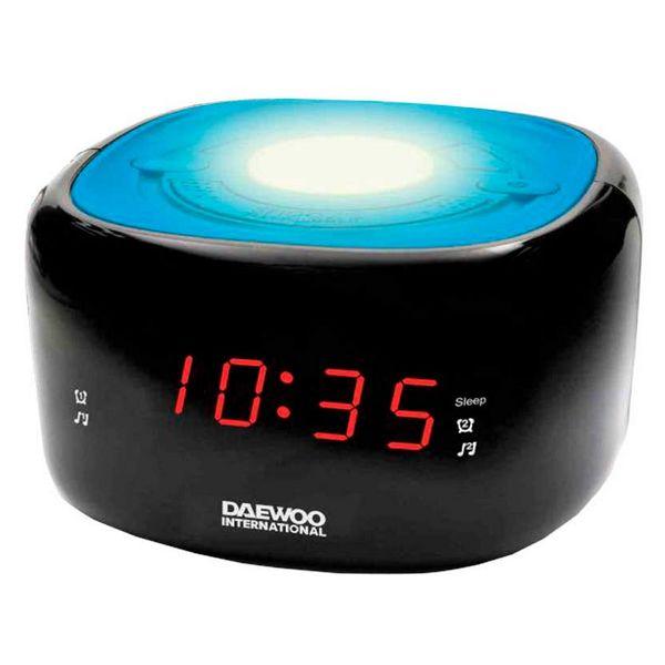 Radio Sveglia Daewoo DCR-440BL LED FM Azzurro