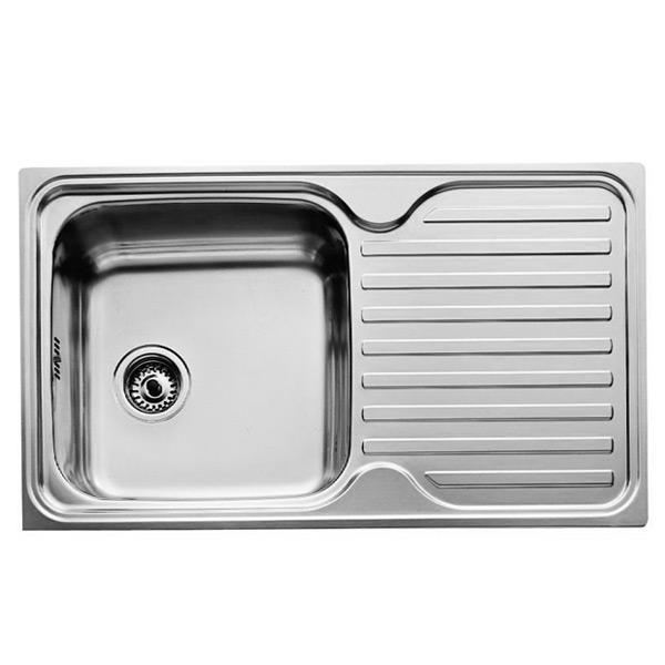 Lavello a Una Vasca Teka 11119005 CLASSIC 1C 1E Acciaio inossidabile