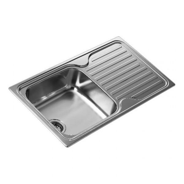Lavello da Una Vasca con Scolapiatti Teka SF 10119013 Acciaio inossidabile