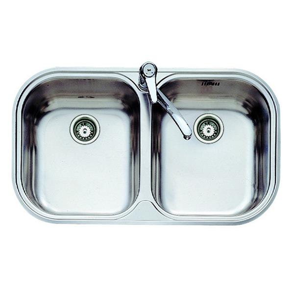 Lavello a Due Vasche Teka 11107028 STYLO 2C Acciaio inossidabile