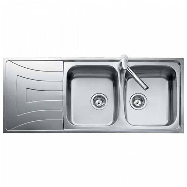 Lavello a Due Vasche Teka 0011/0085 UNIVERSO 2C 1E Acciaio inossidabile