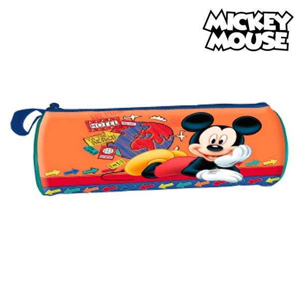 Astuccio Scuola Cilindrico Mickey Mouse 32367 Arancio