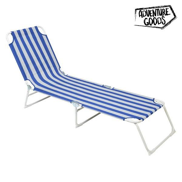 Lettino Adventure Goods 33616 (187 x 55 x 27 cm) Azzurro Bianco