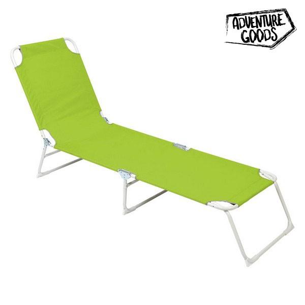 Lettino Adventure Goods 33708 (187 x 55 x 27 cm) Verde