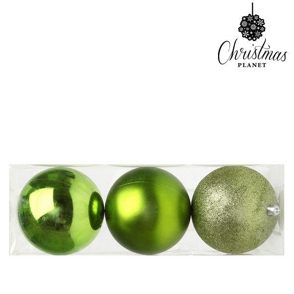 Palle di Natale Christmas Planet 5276 10 cm (3 uds) Plastica Verde