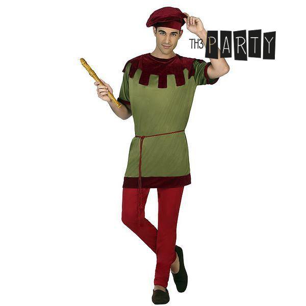 Costume per Adulti Th3 Party 6391 Componentes:PANTAL�N|CAMISA|SOMBRERO|CINTUR�N Giullare