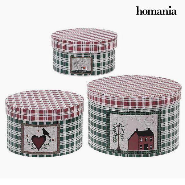 Scatola Decorativa Homania 7611 (3 uds) Scatola