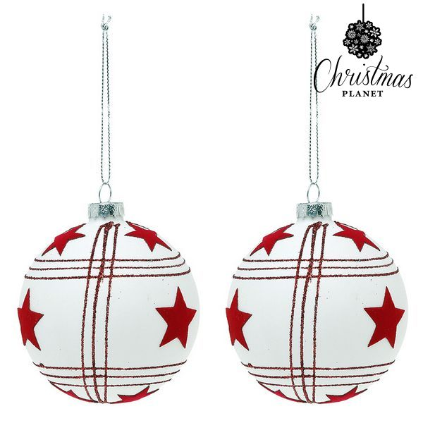 Palle di Natale Christmas Planet 8656 8 cm (2 uds)