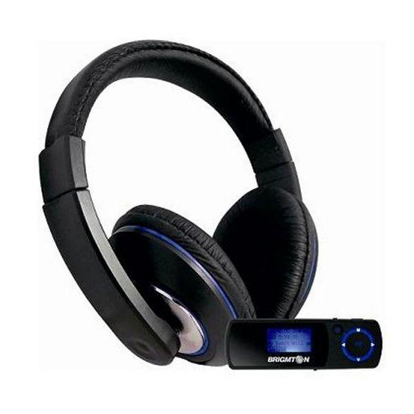 Auriculares con Micrófono + Reproductor MP3 BRIGMTON BPA-4070-AA FM SD