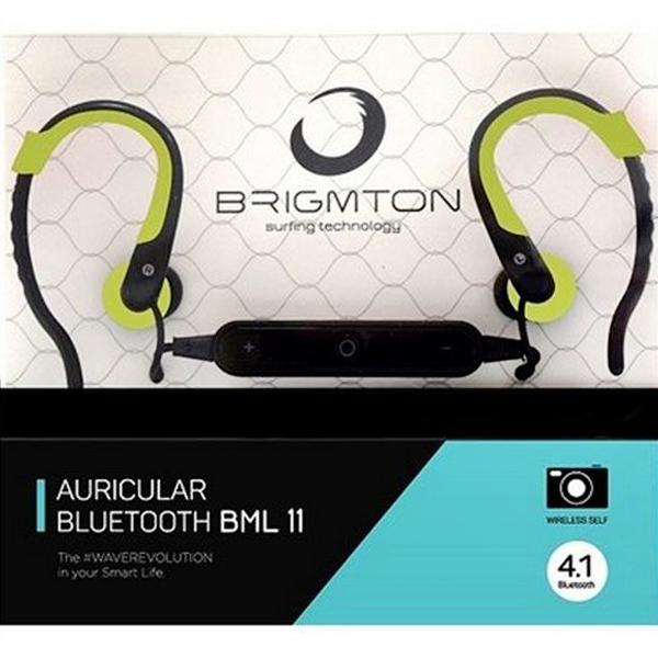 Auricolari Bluetooth con Microfono BRIGMTON BML-11-V Verde
