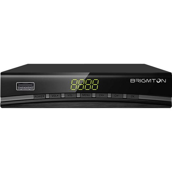 Sintonizzatore TDT BRIGMTON BTDT2-918 Full HD USB HDMI Nero