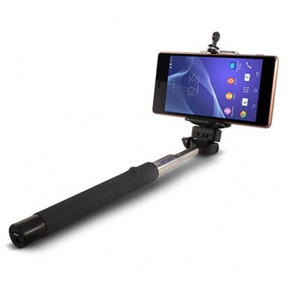 Selfie Stick Estensible Bluetooth KSIX 45 mAh 5 V Nero