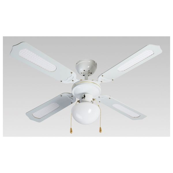 Ceiling Fan with Light Grupo FM VT-CLASSIC-105B 50W Bela