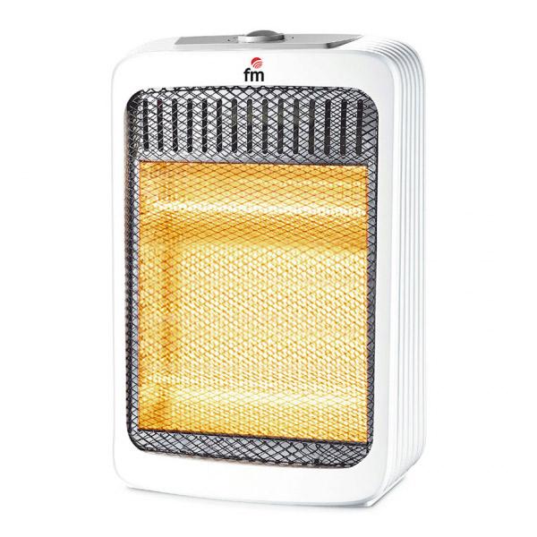 Stufa Elettrica Alogena Grupo FM H800 800W Bianco