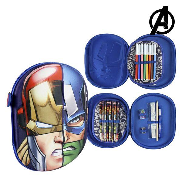 Astuccio Plumier Triplo The Avengers 58430 Blu marino