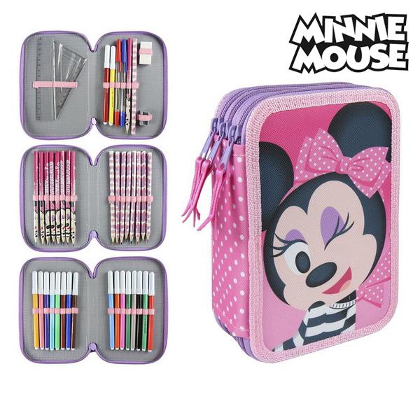 Astuccio Plumier Triplo Minnie Mouse 3608 Rosa