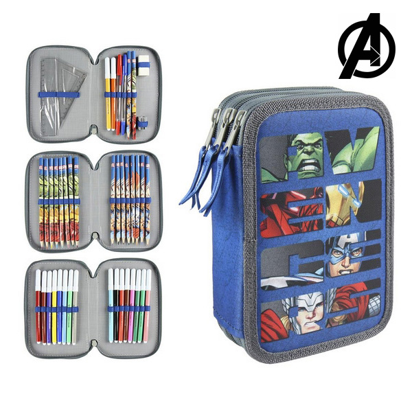 Astuccio Plumier Triplo The Avengers 8177 Azzurro