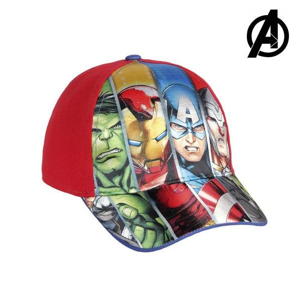 Cappellino per Bambini The Avengers 7448 (54 cm) Rosso