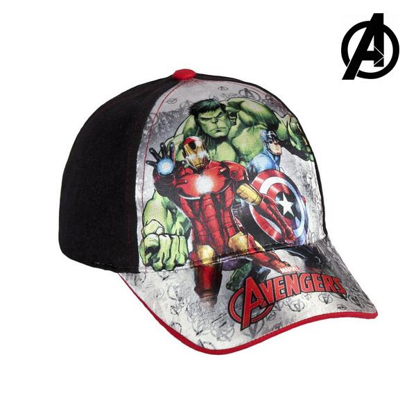 Cappellino per Bambini The Avengers 7455 (54 cm) Nero