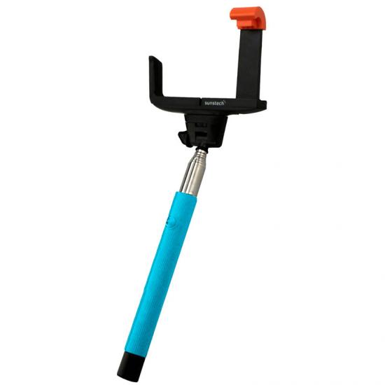 Palo Selfie Extensible Sunstech 15878 Inox Azul