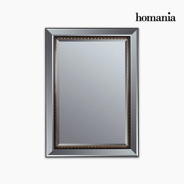 Specchio Resina sintetica Cristallo smussato Nero Oro (80 x 4 x 110 cm) by Homania