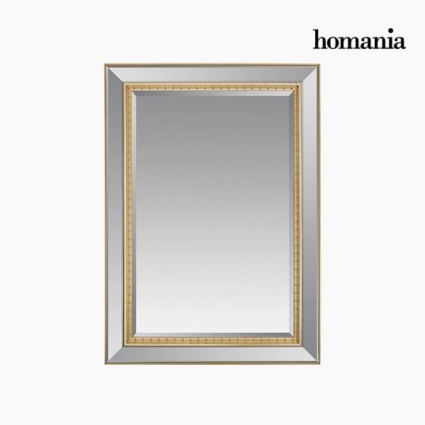 Specchio Resina sintetica Cristallo smussato Argentato Dorato (80 x 4 x 110 cm) by Homania