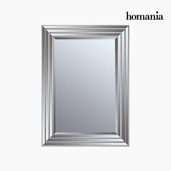 Specchio Resina sintetica Cristallo smussato Argentato (82 x 3 x 112 cm) by Homania