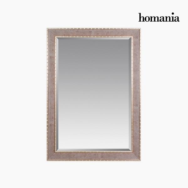 Specchio Resina sintetica Cristallo smussato Legno Argento (76 x 3 x 106 cm) by Homania