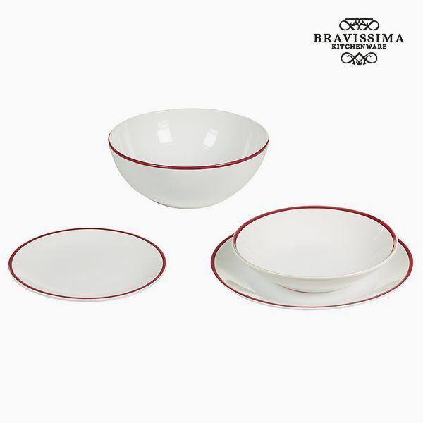 Vajilla (19 pcs) Blanco Burdeos - Colección Kitchen's Deco by Bravissima Kitchen (2)