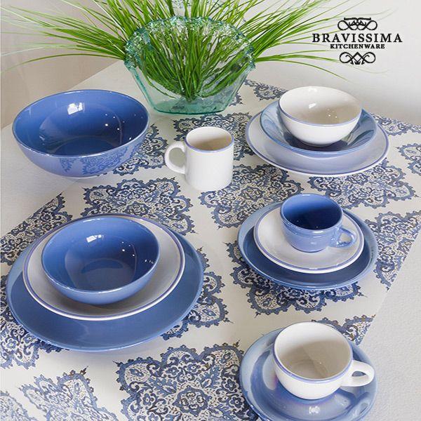 Juego de Jarras Loza Blanco Azul (6 pcs) - Colección Kitchen's Deco by Bravissima Kitchen (1)