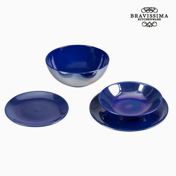 Vajilla (19 pcs) Loza Azul marino - Colección Kitchen's Deco by Bravissima Kitchen (2)