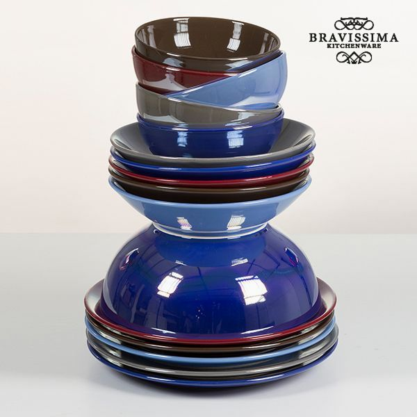 Vajilla (19 pcs) Loza Burdeos - Colección Kitchen's Deco by Bravissima Kitchen (3)