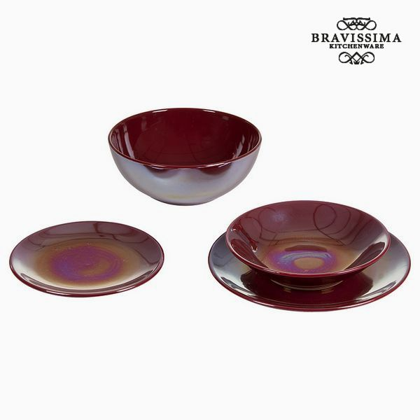 Vajilla (19 pcs) Loza Burdeos - Colección Kitchen's Deco by Bravissima Kitchen (2)