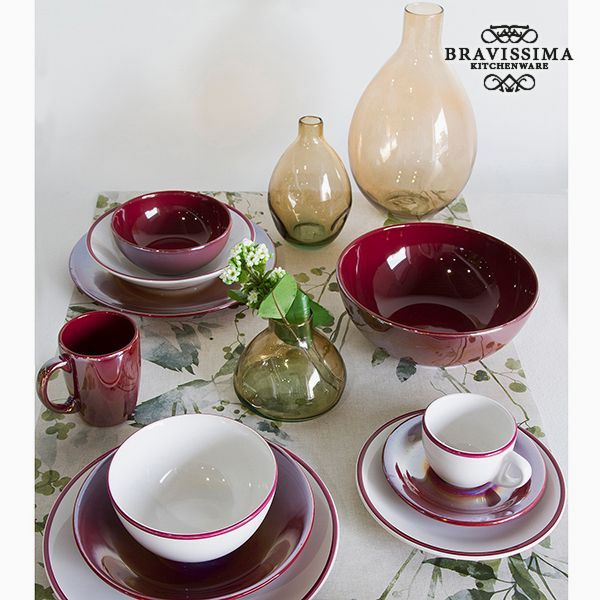 Vajilla (19 pcs) Loza Burdeos - Colección Kitchen's Deco by Bravissima Kitchen (1)