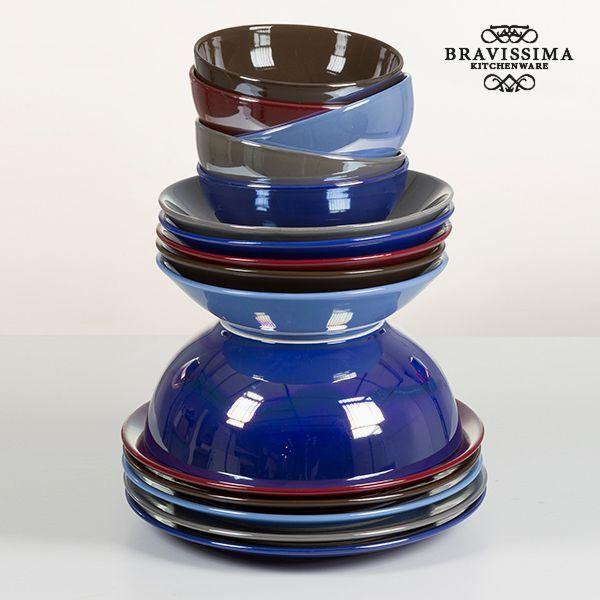 Vajilla (19 pcs) Loza Marrón - Colección Kitchen's Deco by Bravissima Kitchen (2)
