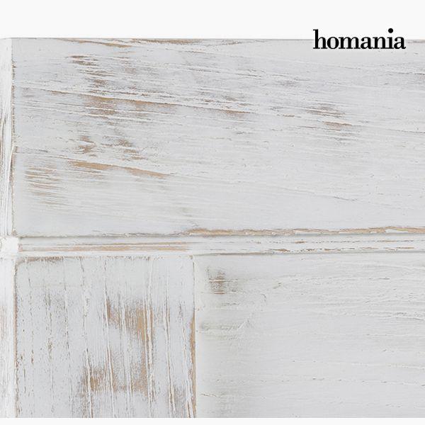 Cabecero de Cama Madera de mindi (160 x 3 x 145 cm) - Colección Pure White by Homania (1)