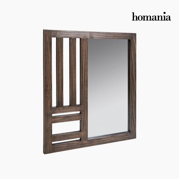 Specchio Legno di mindi (70 x 3 x 80 cm) by Homania